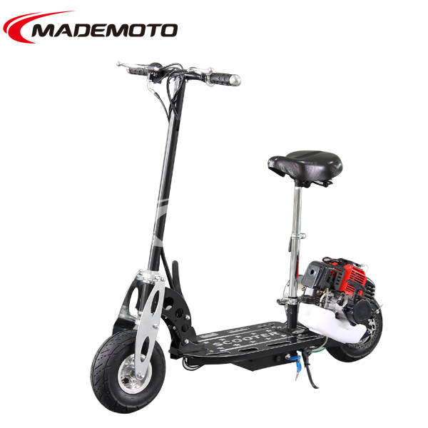 gas scooter with pedals 2 wheel 49cc gas scooter adult gas scooter