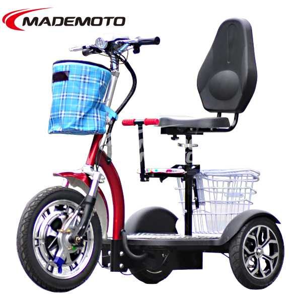 500W 48V 12 Ah New Electric mobility scooter Three wheel Electric Scooter